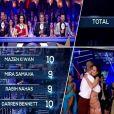 Deux 10 et deux 9 ! Leila Ben Khalifa a obtenu d'excellentes notes ce week-end dans la version libanaise de  Danse avec les stars . Le 26 avril 2015.