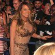 """Mariah Carey à son arrivée sur scène au """"Caesars Palace"""" à Las Vegas, le 27 avril 2015"""
