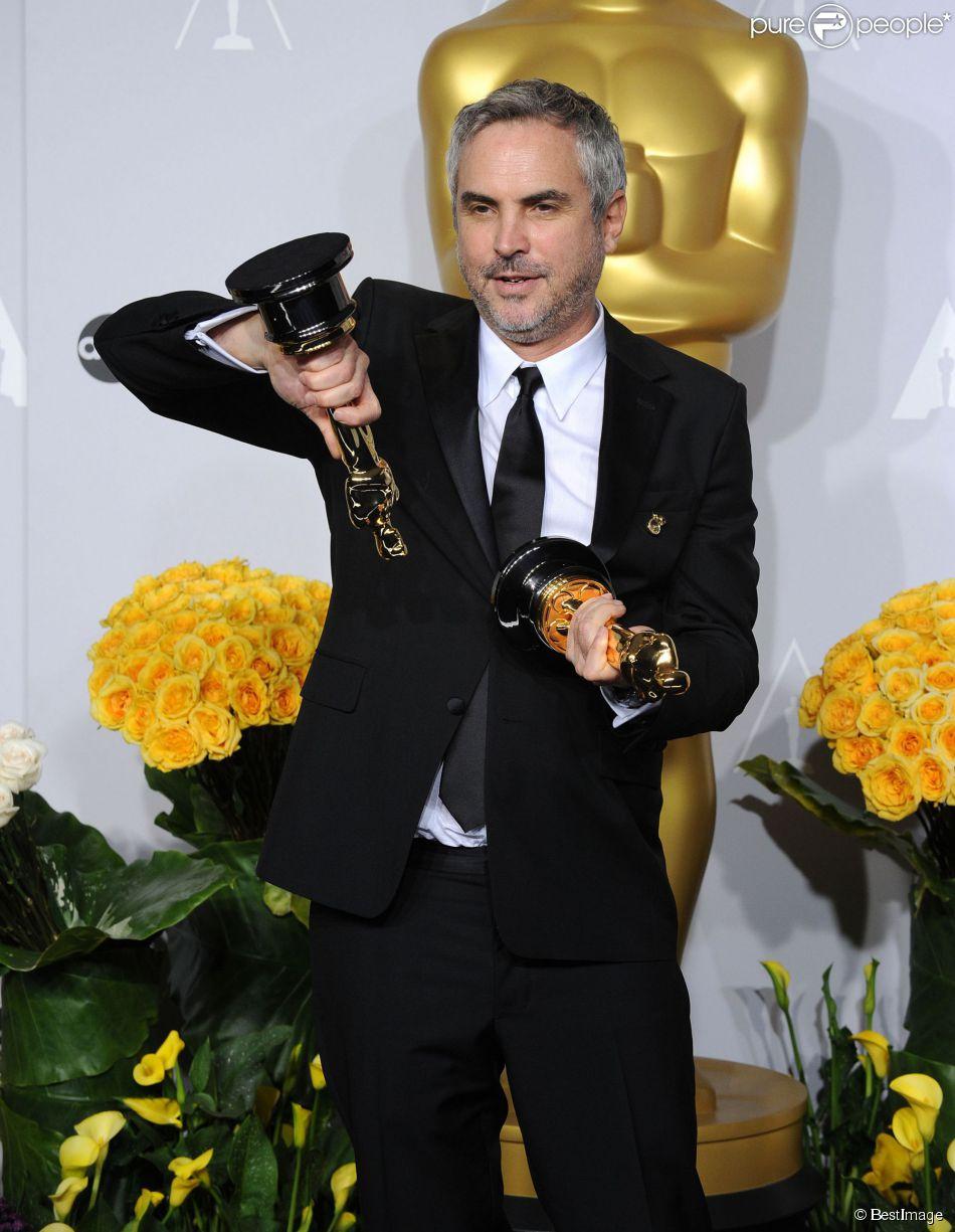 Alfonso Cuaron - Pressroom - 86ème cérémonie des Oscars à Hollywood, le 2 mars 2014.