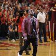 Kanye West lors du Game 4 de la rencontre de NBA Chicago Bulls - Cleveland Cavaliers au United Center. Chicago, le 10 mai 2015.
