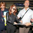 Julianne Moore - People à leur arrivée à l'aéroport de Nice pour le festival de Cannes. Le 12 mai 2015
