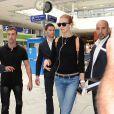 Karlie Kloss - People à leur arrivée à l'aéroport de Nice pour le festival de Cannes. Le 12 mai 2015  Arrivals at the Airport Nice - France 12-05-201512/05/2015 - Nice