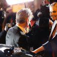 Sean Penn et Charlize Theron à Paris le 20 février 2015.