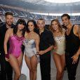 Alizée, Gregoire Lyonnet, Silvia Notargiacomo et Christophe Licata en backstage du concert Stars 80 le 9 mai 2015, au Stade de France