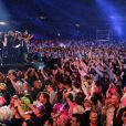 Backstage du concert Stars 80 le 9 mai 2015, au Stade de France