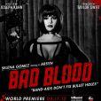 Selena Gomez sur l'une des affiches du clip Bad Blood