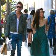 Jonathan Rhys-Meyers et sa girlfriend à West Hollywood, Los Angeles, Cle 11 août 2014.