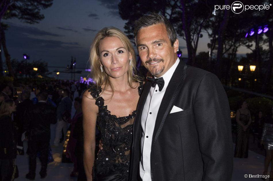Richard Virenque et sa compagne Marie-Laure lors de la soirée de Grisogono à l'hôtel du Cap-Eden-Roc au Cap d'Antibes lors du 68e Festival International du film de Cannes le 19 mai 2015