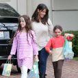 Soleil Moon Frye, Poet Goldberg, Jagger Goldberg - People arrivant a une fete pour enfants chez Rachel Zoe a Beverly Hills, le 14 avril 2013.