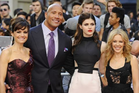 Dwayne Johnson : Un Rock au côté de la délicieuse Kylie Minogue