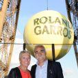 Mansour Bahrami lors de la soirée des joueurs de Roland-Garros, le 21 mai 2015 au premier étage de la Tour Eiffel à Paris