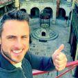 """""""Selfie pour Christian Millette lors du tournage de Fort Boyard, le 21 mai 2015"""""""