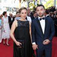 """Alysson Paradis enceinte et son compagnon Guillaume Gouix - Montée des marches du film """"Inside Out"""" (Vice-Versa) lors du 68e Festival International du Film de Cannes, à Cannes le 18 mai 2015."""