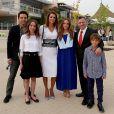 Rania de Jordanie et sa famille en juin 2014 lors de la remise de diplôme de la princesse Iman. Photo Instagram.