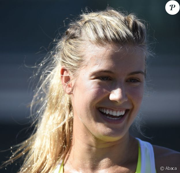 Eugenie Bouchard à l'Open de Miami, le 3 avril 2015
