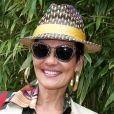 L'animatrice Cristina Cordula - Jour 11 - People dans le village lors du tournoi de tennis de Roland Garros à Paris le 3 juin 2015.