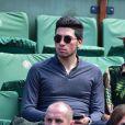 Cristina Cordula et son fils Enzo - People dans les tribunes des Internationaux de France de tennis de Roland Garros le 3 juin 2015.  Celebs attend the French Tennis Open in Roland Garros in Paris on june 3rd 2015.03/06/2015 - Paris