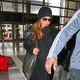 Janet Jackson arrive à LAX, Los Angeles, le 6 février 2014
