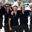 """Andrea Casiraghi et sa team """"Sardine"""" - Andrea Casiraghi et son frère Pierre participent à """"Sail for a Cause"""", une journée caritative co-organisée par Leticia de Massy et le réseau féminin LeSpot.net au Yacht Club de Monaco le samedi 6 juin 2015."""