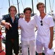"""Andrea Casiraghi, à gauche, et son frère Pierre, à droite, participent à """"Sail for a Cause"""", une journée caritative co-organisée par Leticia de Massy et le réseau féminin LeSpot.net au Yacht Club de Monaco le samedi 6 juin 2015."""