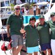 """Charles de Bourbon Des Deux Siciles et son équipe participent à """"Sail for a Cause"""", une journée caritative co-organisée par Leticia de Massy et le réseau féminin LeSpot.net au Yacht Club de Monaco le samedi 6 juin 2015."""