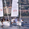 """L'équipe d'Andrea Casiraghi, à gauche, et l'équipe de son frère Pierre participe à """"Sail for a Cause"""", une journée caritative co-organisée par Leticia de Massy et le réseau féminin LeSpot.net au Yacht Club de Monaco le samedi 6 juin 2015."""