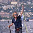 """Andrea Casiraghi participe à """"Sail for a Cause"""", une journée caritative co-organisée par Leticia de Massy et le réseau féminin LeSpot.net au Yacht Club de Monaco le samedi 6 juin 2015."""
