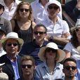 Elie Semoun dans les tribunes de Roland-Garros lors de la finale homme, le 7 juin 2015 à Paris