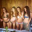 Vanesas Lawrens à Tahiti pour le shooting de Bikini Destinations. Juin 2015.