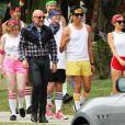 Exclusif - Nicole Richie sur le tournage de sa série «Candidly Nicole» à Los Angeles, le 22 mai 2015