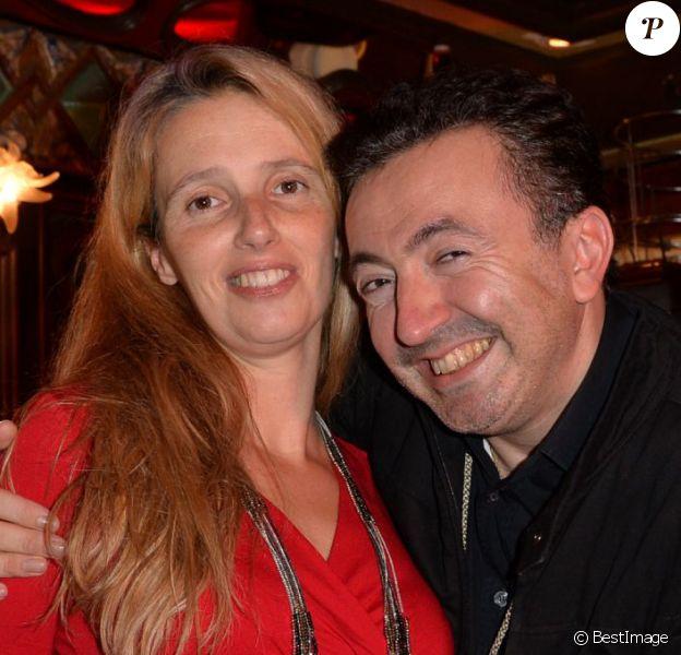 Exclusif - Gérald Dahan et sa compagne Claire enceinte à Paris, le 20 octobre 2014.