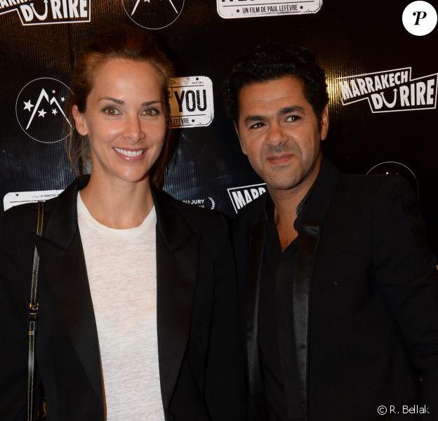 Mélissa Theuriau et Jamel Debbouze lors de la soirée d'ouverture du 5e Festival Marrakech du Rire, à Marrakech (Maroc), le mercredi 10 juin 2015.