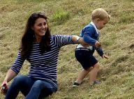Kate Middleton, toute mince, et George, cascadeur : Fun en famille au polo !