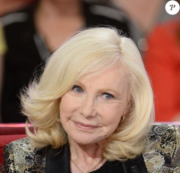 Michèle Torr, lors de l'enregistrement de l'émission Vivement Dimanche à Paris le 27 mai 2015 (diffusion le dimanche 21 juin 2015 sur France 2).