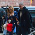 Beyoncé et son mari Jay Z à New York. Le 12 février 2015.
