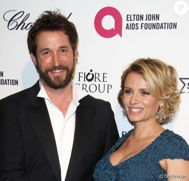 """Noah Wyle et Sara Wells, enceinte - Soirée """"Elton John AIDS Foundation Oscar Party"""" 2015 à West Hollywood, le 22 février 2015."""