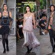 Kendall Jenner, Naomi Campbell, Candice Swanepoel et Irina Shayk défilent pour Givenchy, collection homme printemps-été 2016, à Paris le 26 juin 2015.