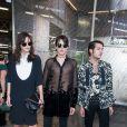 Catherine McNeil, Peter Brant et son frère Harry Brant - People au défilé de mode masculine Givenchy PAP Printemps / été 2016 à la Halle aux Chevaux à Paris le 26 juin 2015.