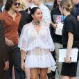 Marina Morena - People au défilé de mode masculine Givenchy PAP Printemps / été 2016 à la Halle aux Chevaux à Paris le 26 juin 2015.