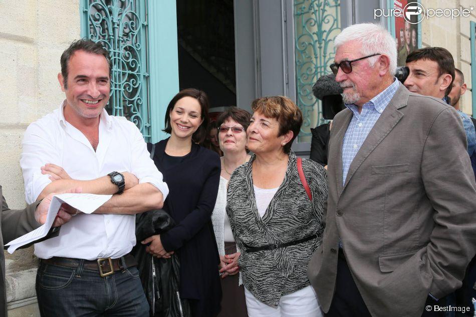 L 39 acteur jean dujardin avec sa compagne nathalie p chalat for Jean dujardin pechalat