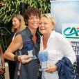 Anne Le Nen, Muriel Robin - Tournoi de babyfoot à l'occasion de la 7e coupe du monde de football féminin au village by CA à Paris le 08 juin 2015