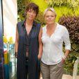Anne Le Nen et sa compagne Muriel Robin - Photocall du tournoi de babyfoot à l'occasion de la 7ème Coupe du monde de football féminin au village by CA (Crédit Agricole) à Paris. Le 8 juin 2015
