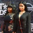 Carol et Onika Maraj (Nicki Minaj) lors des BET Awards 2015 au Microsoft Theater. Los Angeles, le 28 juin 2015.