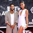 Omarion et sa compagne Apryl Jones lors des BET Awards 2015 au Microsoft Theater. Los Angeles, le 28 juin 2015.