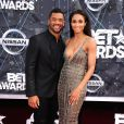 Russell Wilson et Ciara lors des BET Awards 2015 au Microsoft Theater. Los Angeles, le 28 juin 2015.
