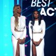 Laverne Cox et Gabrielle Union lors des BET Awards 2015 au Microsoft Theater. Los Angeles, le 28 juin 2015.