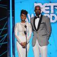 Nicole Ari Parker et son mari Boris Kodjoe lors des BET Awards 2015 au Microsoft Theater. Los Angeles, le 28 juin 2015.