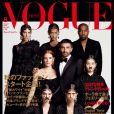 Kanye West, Joan Smalls, Jamie Bochert, Riccardo Tisci, Jessica Chastain, Kozue Akimoto, Mica Arganaraz et Kendall Jenner en couverture du numéro d'août 2015 de Vogue Japan.
