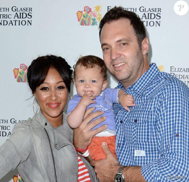 Tamera Mowry en famille à Los Angeles, le 2 juin 2013.