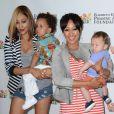 Tia et Tamera Mowry avec leurs fils à Los Angeles, le 2 juin 2013.